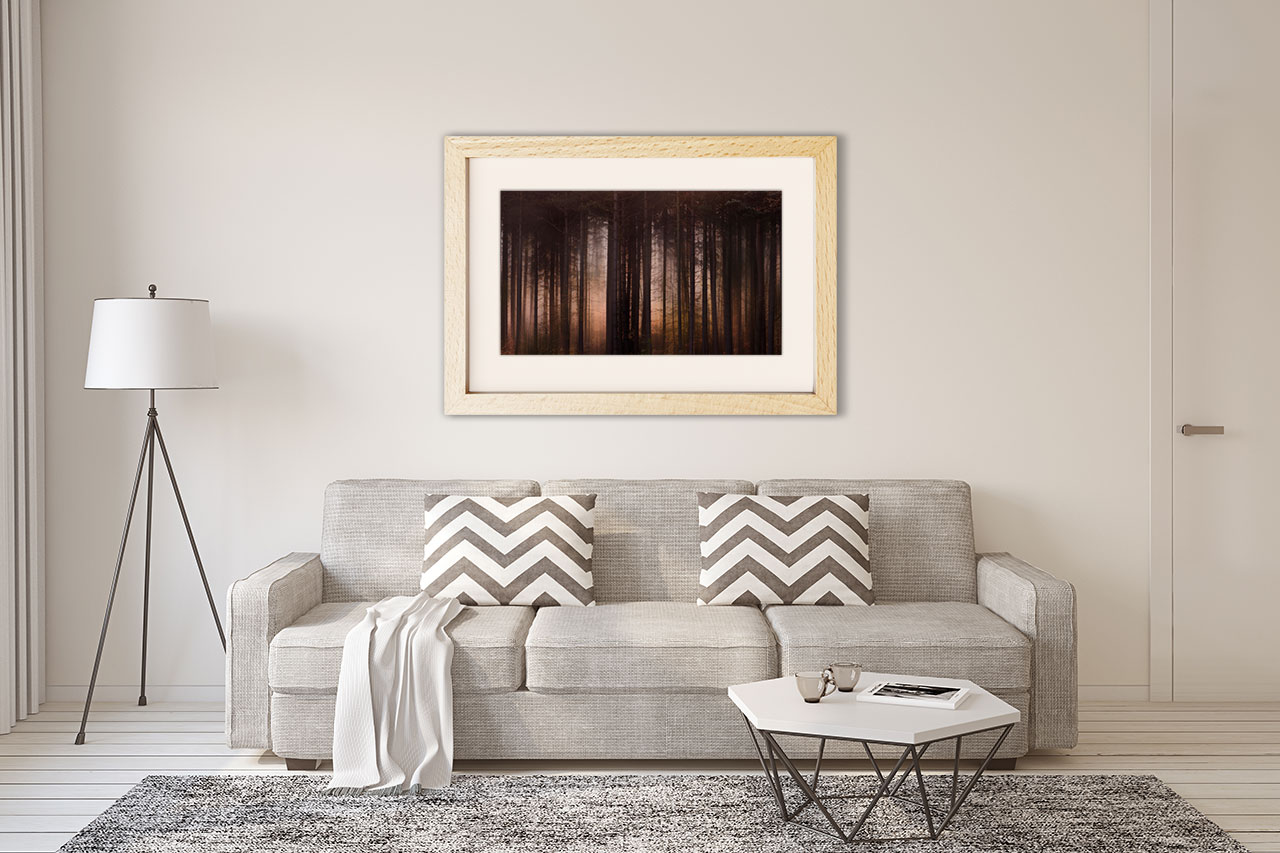 photographic print for living room