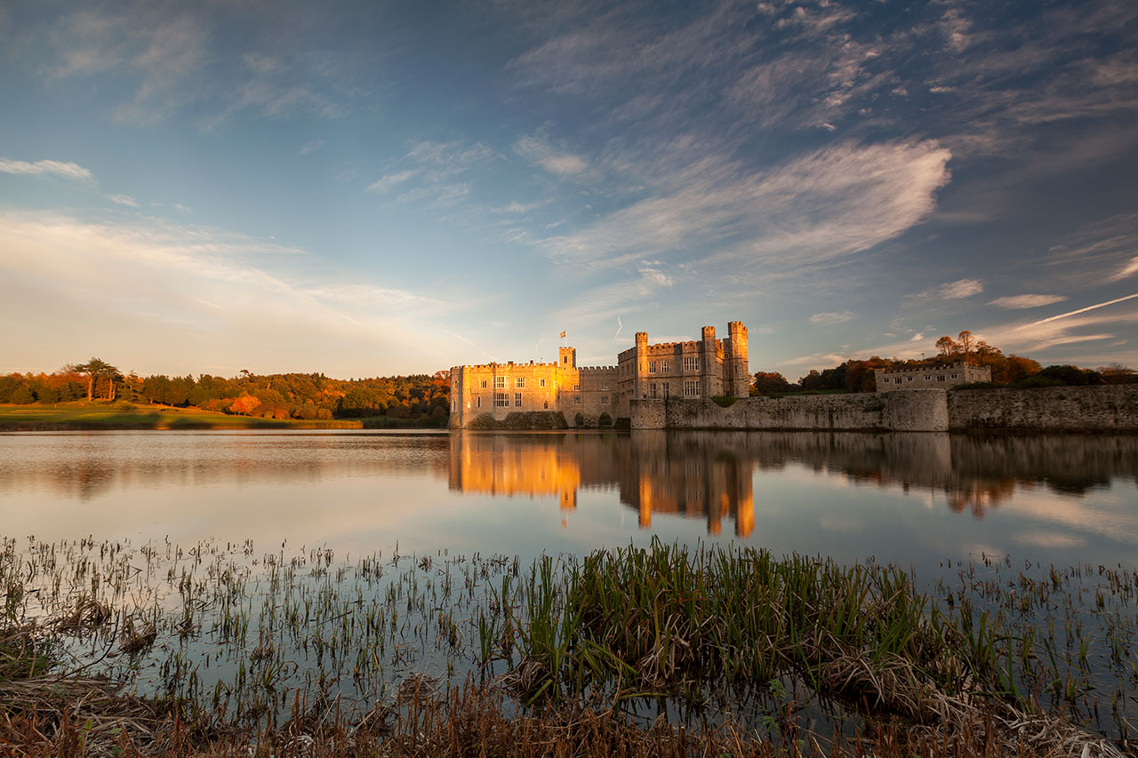 leeds castle evening glow