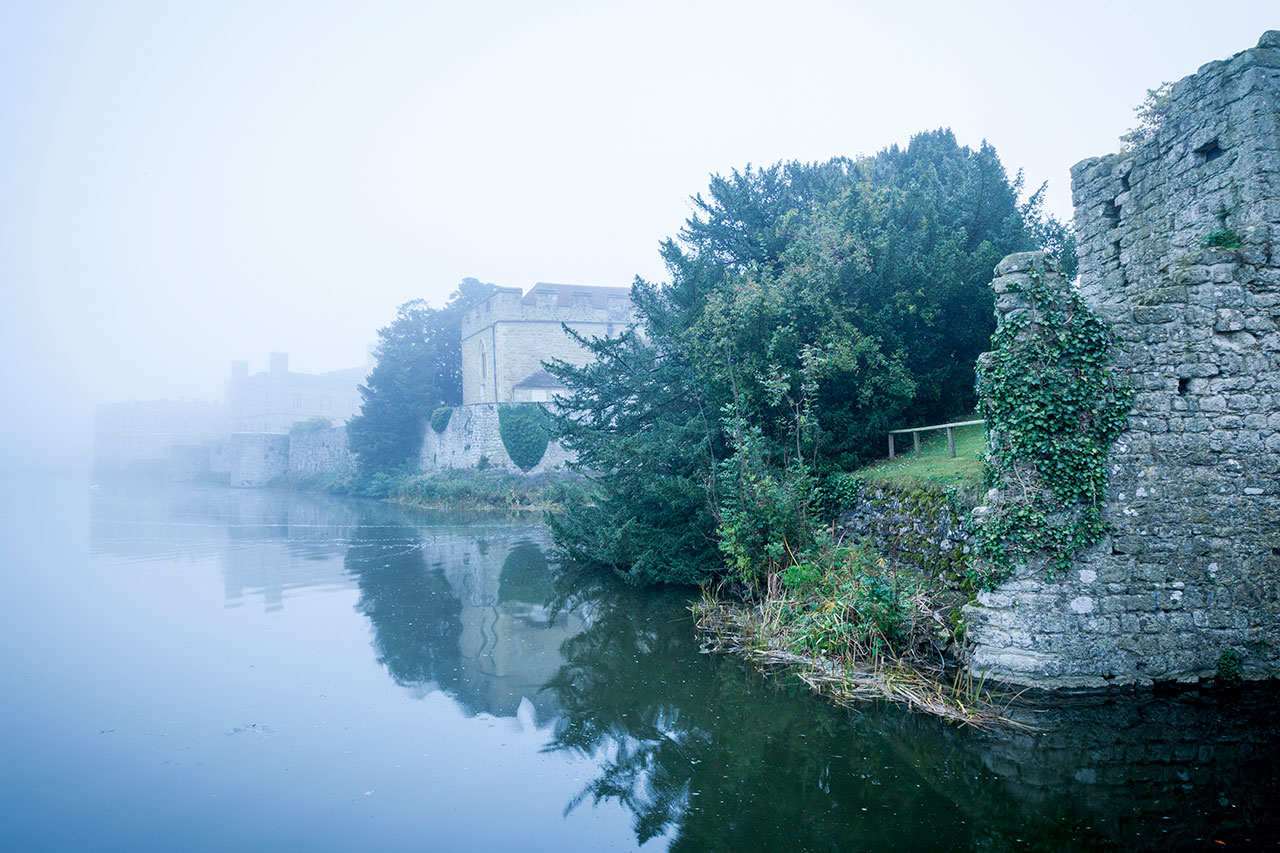 leeds castle winter frost